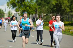 Marathon runners compete at the Spring Half Marathon Royalty Free Stock Photography