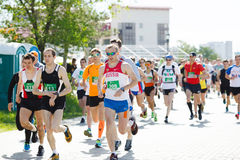 Marathon runners compete at the Spring Half Marathon Royalty Free Stock Photo