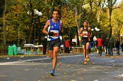 Marathon runners in Florence , Italy Stock Photography