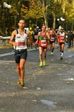 Marathon runners in Florence , Italy Stock Photo