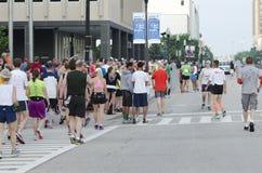 Marathon. Runners gathering, May 19th 2013 Peoria IL 1st Marathon Royalty Free Stock Images