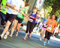 Marathon Runners Stock Photo