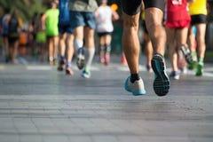 Marathon runners. Group of active people running,marathon runners Stock Photos