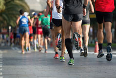 Marathon runners. Group of active people running,marathon runners Royalty Free Stock Images