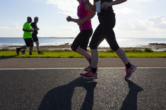 Marathon runners Stock Photography
