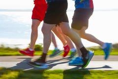 Marathon runners Royalty Free Stock Photos