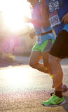 Marathon runners morning Stock Images