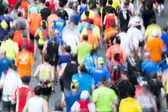 Marathon runners motion blur Royalty Free Stock Photos