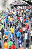 Marathon runners in paris Stock Photo