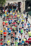 Marathon runners in paris Royalty Free Stock Images