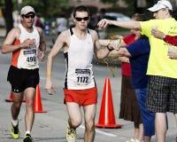 Marathon. Runners at the 2013 Peoria IL Marathon Stock Photos