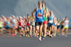 Marathon runners in the race,abstract Stock Photos