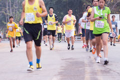 Marathon runners in 2015 race Stock Photos