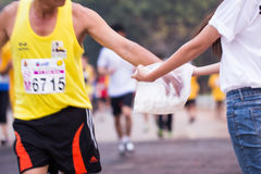Marathon runners in 2015 race Royalty Free Stock Photography