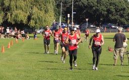Marathon runners running Royalty Free Stock Images