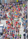 Marathon runners running Stock Images