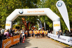 Marathon Runners at the Starting Line Royalty Free Stock Photography