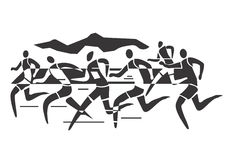 Marathon runners Stock Images