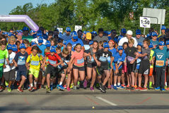 Marathon. Runners are taking part in the Manitoba Marathon competition. 21 June 2015. Winnipeg City, Manitoba Province, Canada