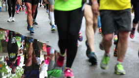 Marathon runners Royalty Free Stock Photos