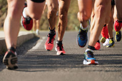 Marathon running Stock Image