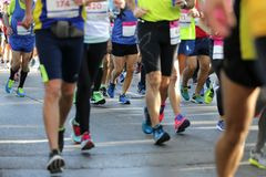 Marathon runners legs only Royalty Free Stock Image