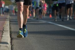 Marathon running race people competing Royalty Free Stock Photography