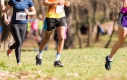 Marathon running race, people feet Royalty Free Stock Photo
