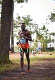 Marathon Fit people running race Stock Image
