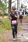Marathon Fit people running race at park. Marathon running race Phu Kradueng Wake Up Run at park Loei of thailand 1 October 2017 Stock Image