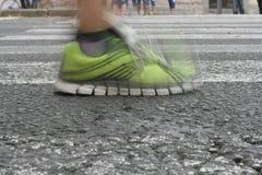 Marathon running on the street Stock Image