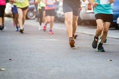 Marathon running street race Stock Photos