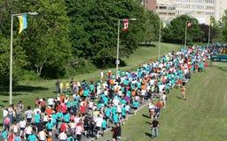 Marathon on Scenic Drive Royalty Free Stock Photos