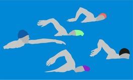 Marathon-Schwimmen-Sport Stockbild
