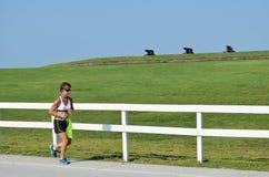 Marathon-Seitentrieb Stockfotografie