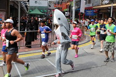 Marathon shark runner Royalty Free Stock Photography