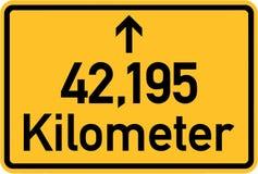 Marathon Sign 42,195 kilometres. Vector vector illustration