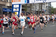 Marathon start-1 Photos libres de droits