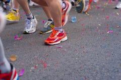 Marathon start stock photo