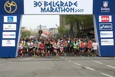 Marathon start-1 Photo libre de droits