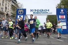 Marathon start-3 Image stock