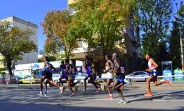 Marathon supérieur de groupe Photos libres de droits