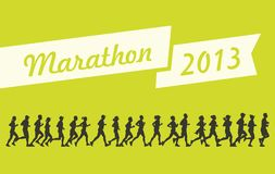 Marathon 2013. Theme. Illustration Royalty Free Stock Images