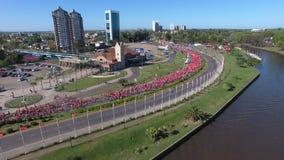 Marathon in Tigre City, Buenos Aires stock photo