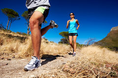 Marathon training Royalty Free Stock Photos
