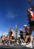 Marathon-und Friedenskontrollturm Stockfoto