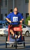 Marathon - Vader en Zoon Royalty-vrije Stock Afbeeldingen
