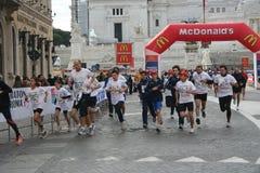 Marathon von Rom 2011 stockbild