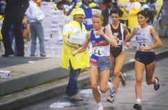 Marathon winner Grete Waitz. NY City Stock Image