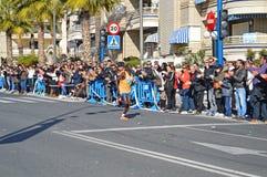 Marathon Winning Athlete Running Royalty Free Stock Photo